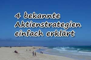 4 Aktienstrategien vorgestellt