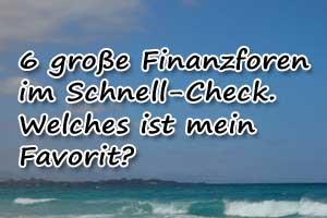 Börsen- und Finanzforen im Check