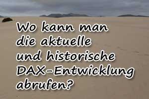 Aktuelle und historische DAX-Kurse abrufen