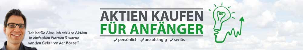 Aktien kaufen für Anfänger Logo